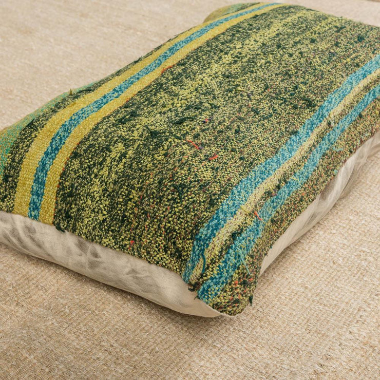 Designer Wool Green Sofa Pillow-Turkish Rugs-Oriental Rugs-Kilim Rugs-Oushak Rugs