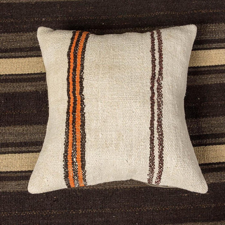 Designer Wool White Sofa Pillow-Turkish Rugs-Oriental Rugs-Kilim Rugs-Oushak Rugs