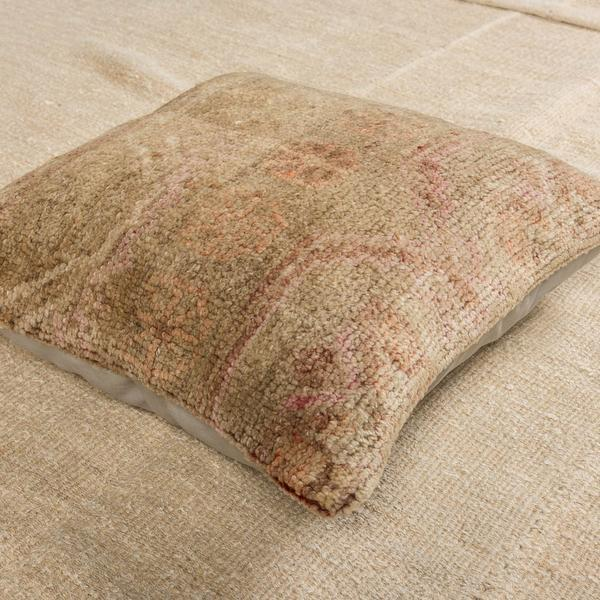 Luxury Wool Beige Sofa Pillow-Turkish Rugs-Oriental Rugs-Kilim Rugs-Oushak Rugs