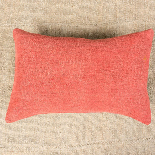 Luxury Wool Orange Sofa Pillow-Turkish Rugs-Oriental Rugs-Kilim Rugs-Oushak Rugs
