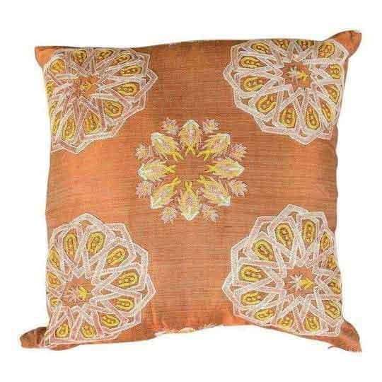 Modern Embroidered Copper Sofa Pillow