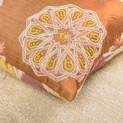 Modern Embroidered Copper Sofa Pillow-Turkish Rugs-Oriental Rugs-Kilim Rugs-Oushak Rugs
