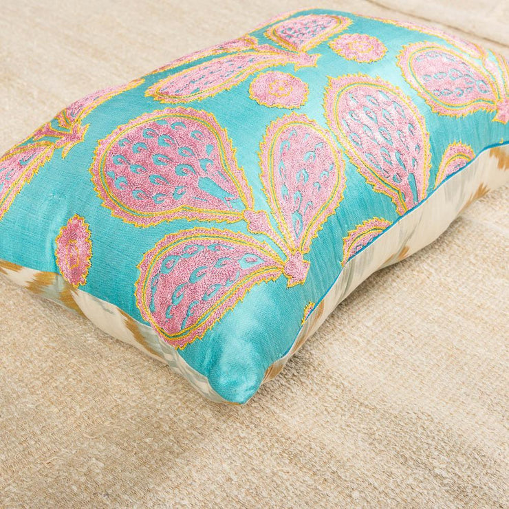 Modern Embroidered Multicolor Sofa Pillow-Turkish Rugs-Oriental Rugs-Kilim Rugs-Oushak Rugs