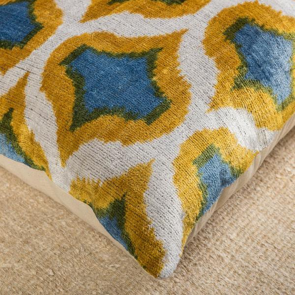Modern Velvet Multicolor Sofa Pillow-Turkish Rugs-Oriental Rugs-Kilim Rugs-Oushak Rugs
