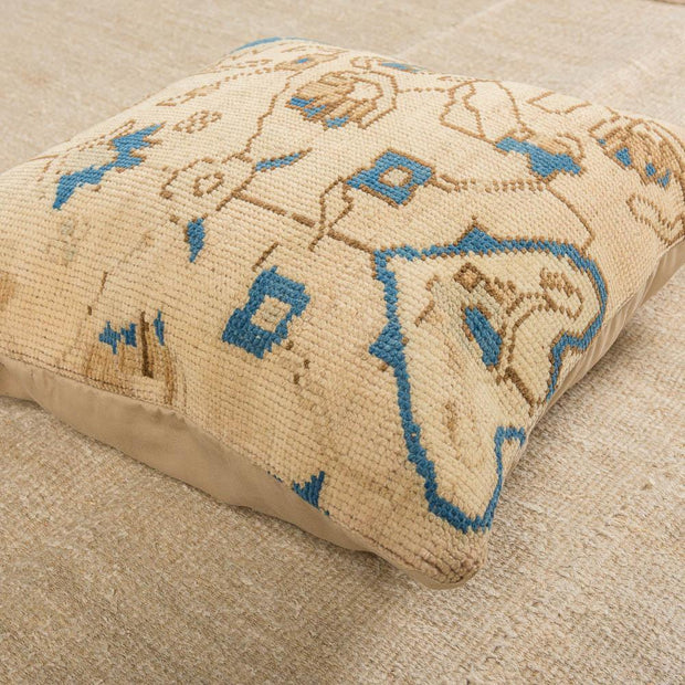 Modern Wool Beige Sofa Pillow-Turkish Rugs-Oriental Rugs-Kilim Rugs-Oushak Rugs
