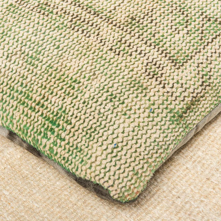 Modern Wool Green Floor Pillow-Turkish Rugs-Oriental Rugs-Kilim Rugs-Oushak Rugs