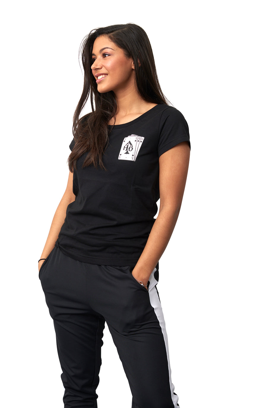Dames Playing cards tee Black
