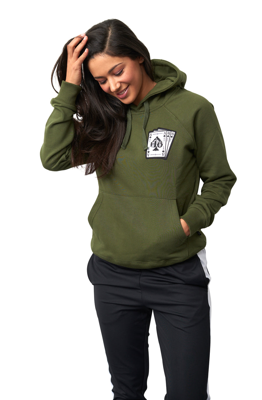 Leef je leven hoodie Dames Army