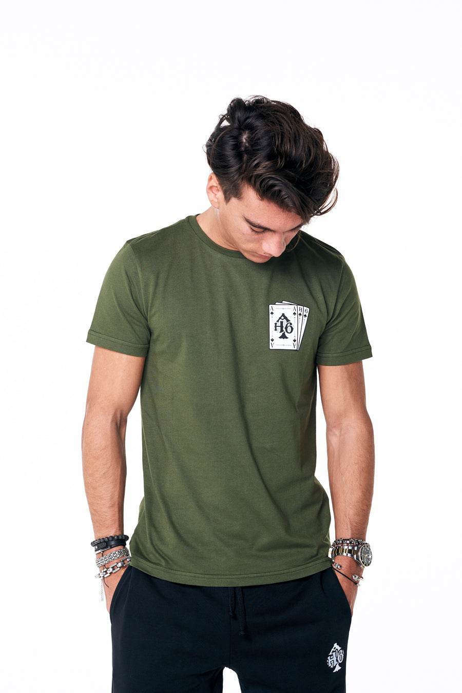 Playing cards tee Army
