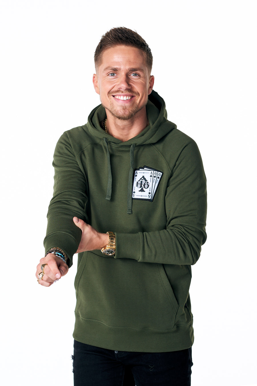 Leef je leven hoodie Army