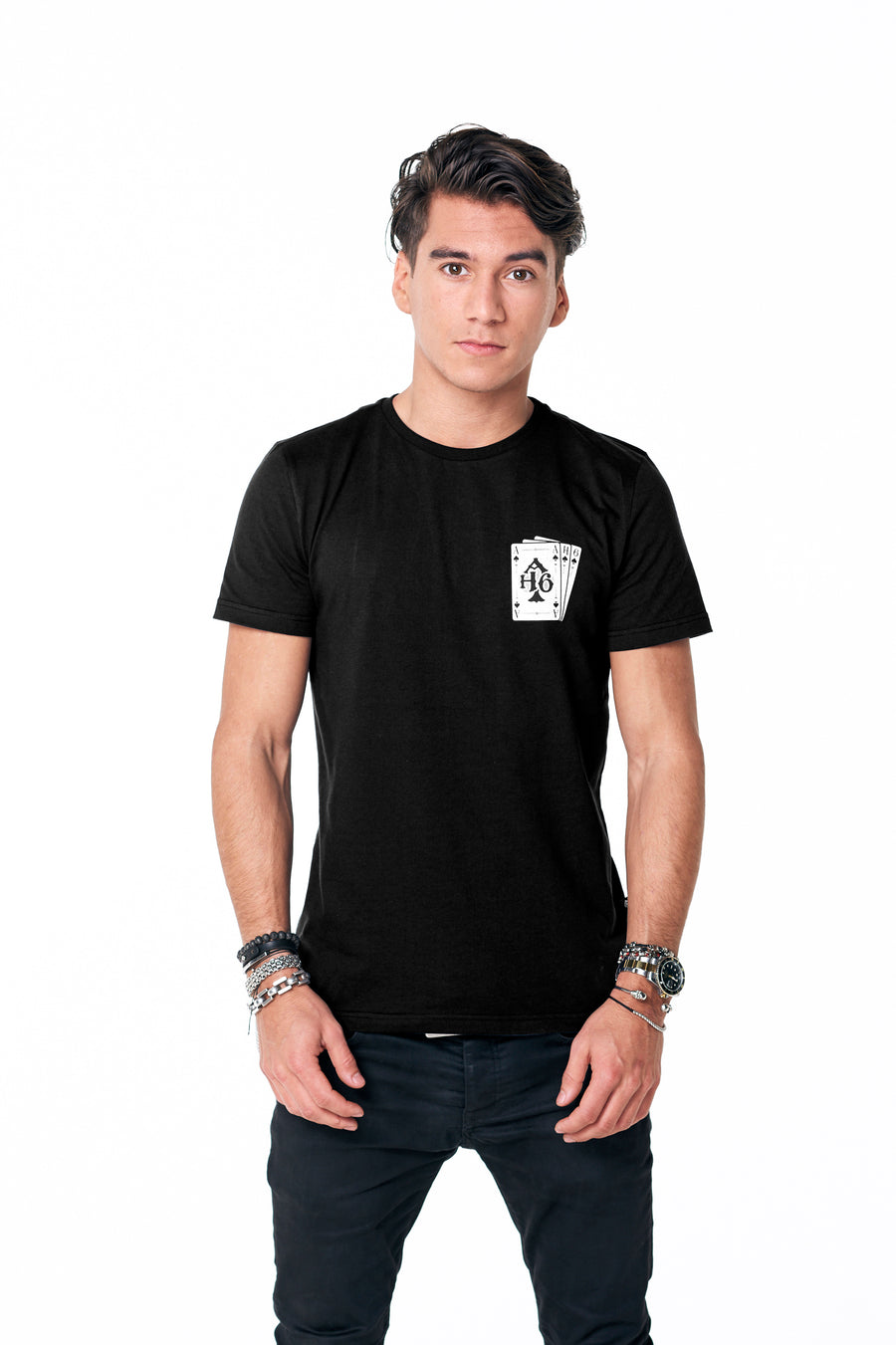 Playing cards tee Black