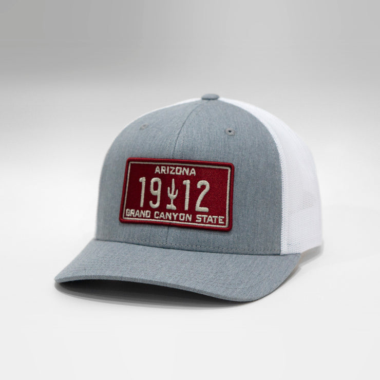 Arizona Vintage License Plate Curved Brim Snapback Cap