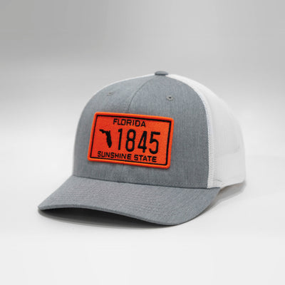 Florida Vintage License Plate Curved Snapback Cap