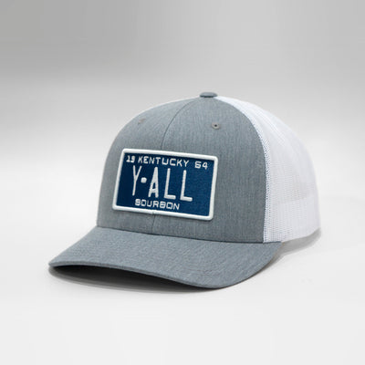 Kentucky Y'all Vintage License Plate Curved Brim Snapback Cap