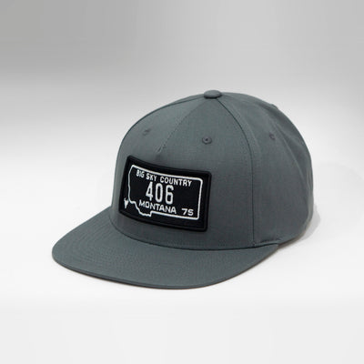 Montana Vintage License Plate 5 Panel Snapback Cap