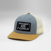 Montana Vintage License Plate Snapback Cap. Limited Edition Colors.
