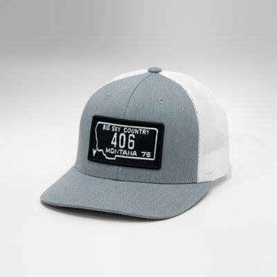 Montana Youth Vintage License Plate Snapback Baseball Cap