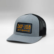 North Carolina Vintage License Plate Curved Brim Snapback Cap