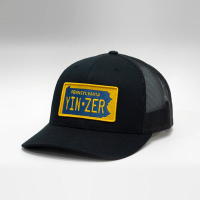Pennsylvania Yinzer Vintage License Plate Curved Brim Snapback Cap