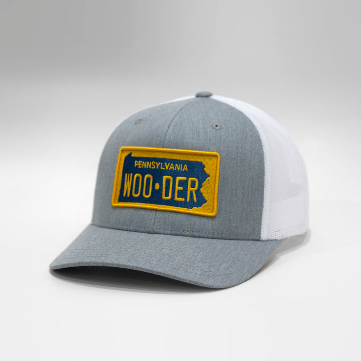 Pennsylvania Wooder Vintage License Plate Curved Brim Snapback Cap