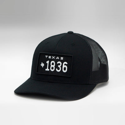 Texas Vintage License Plate Curved Brim Snapback Cap