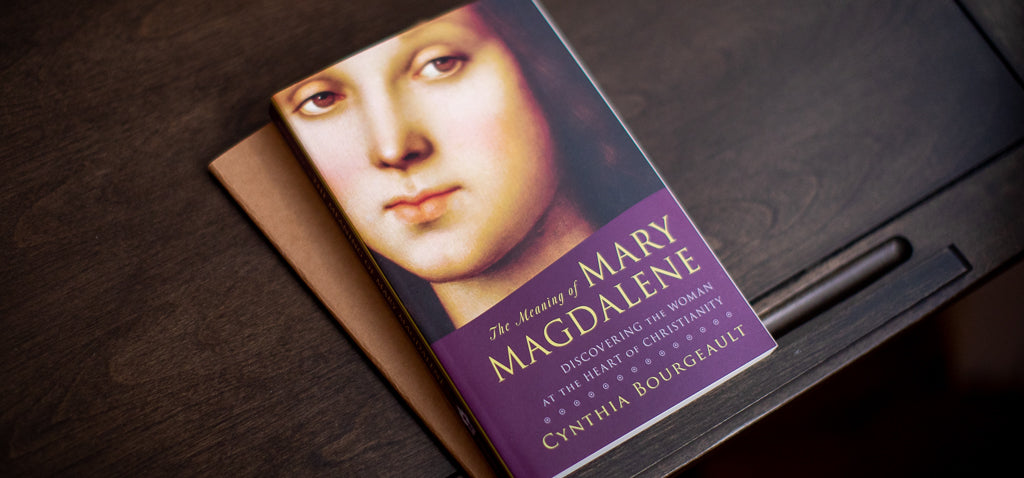 The cover of The Meaning of Mary Magdalene featuring a painted image of Mary Magdalene herself.