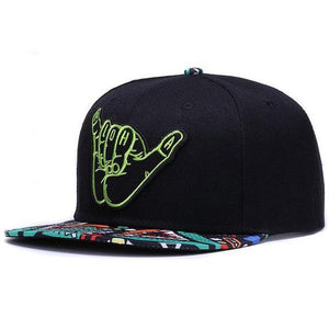 aloha-retro-snapback-black-colorful-flat-brim-retro-snapback-hat-cap-1