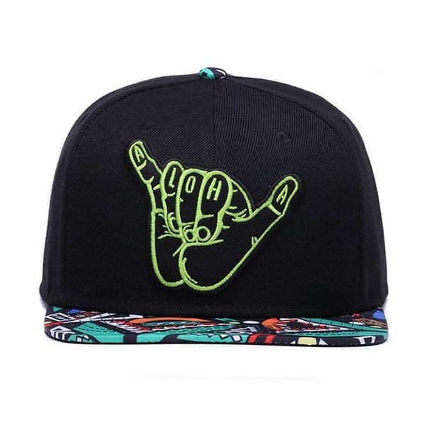 aloha-retro-snapback-black-colorful-flat-brim-retro-snapback-hat-cap-2