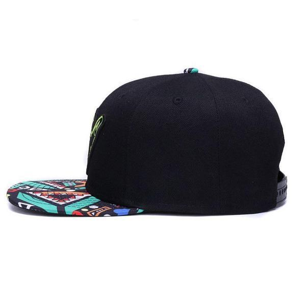 aloha-retro-snapback-black-colorful-flat-brim-retro-snapback-hat-cap-3