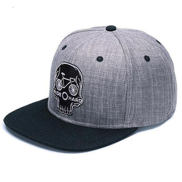 cycle-skull-snapback-cap-flat-brim-cycling-hat-1