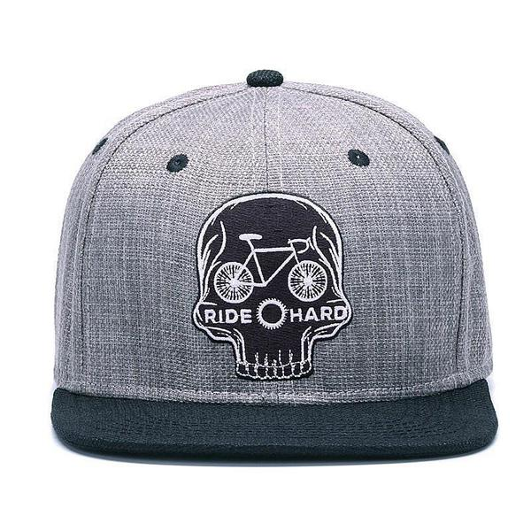 cycle-skull-snapback-cap-flat-brim-cycling-hat-2