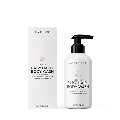 Organic Baby Hair + Body Wash (250ml) - Lovekins Asia