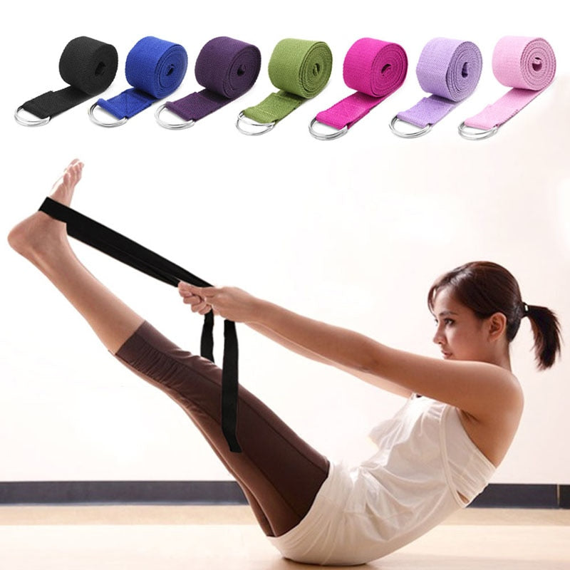 Adjustable Sport Stretch Strap D-Ring Belts Gym Waist Leg Fitness Yoga Belt New