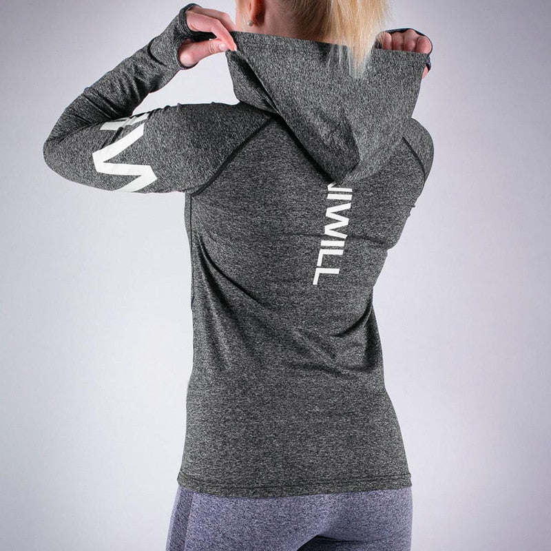 Womens Quick Dry Breathable Long Sleeve Yoga Top
