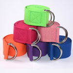 Multi-Colored Adjustable Yoga Stretch Strap D-Ring Belt