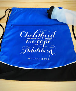 Adulthood bag, Nylon drawstring bag