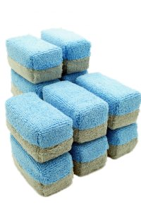Autofiber Saver Microfiber Applicator - 12-pk | Blue/Grey | Mini