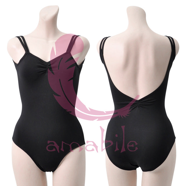 Black Backless Leotard