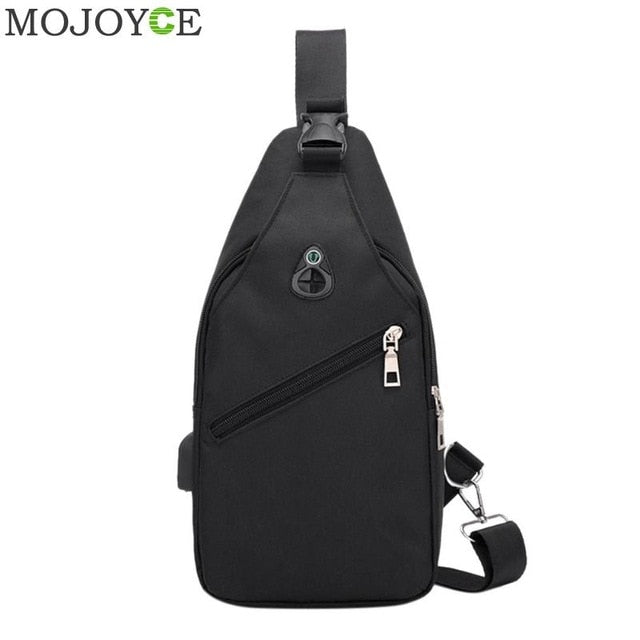 Oxford USB Charge Shoulder Bag Back Pack
