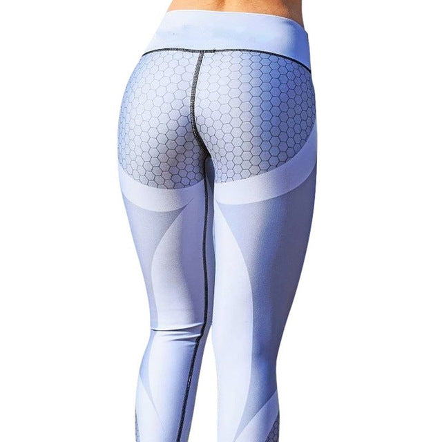 Vertvie Honeycomb Printed Yoga Pants