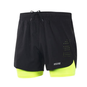 Breathable Two Layered Fitness Shorts