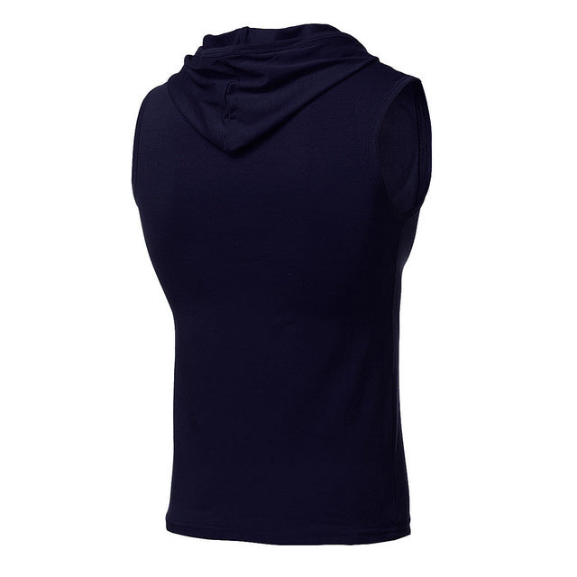 Hooded Sleeveless Running T-Shirt