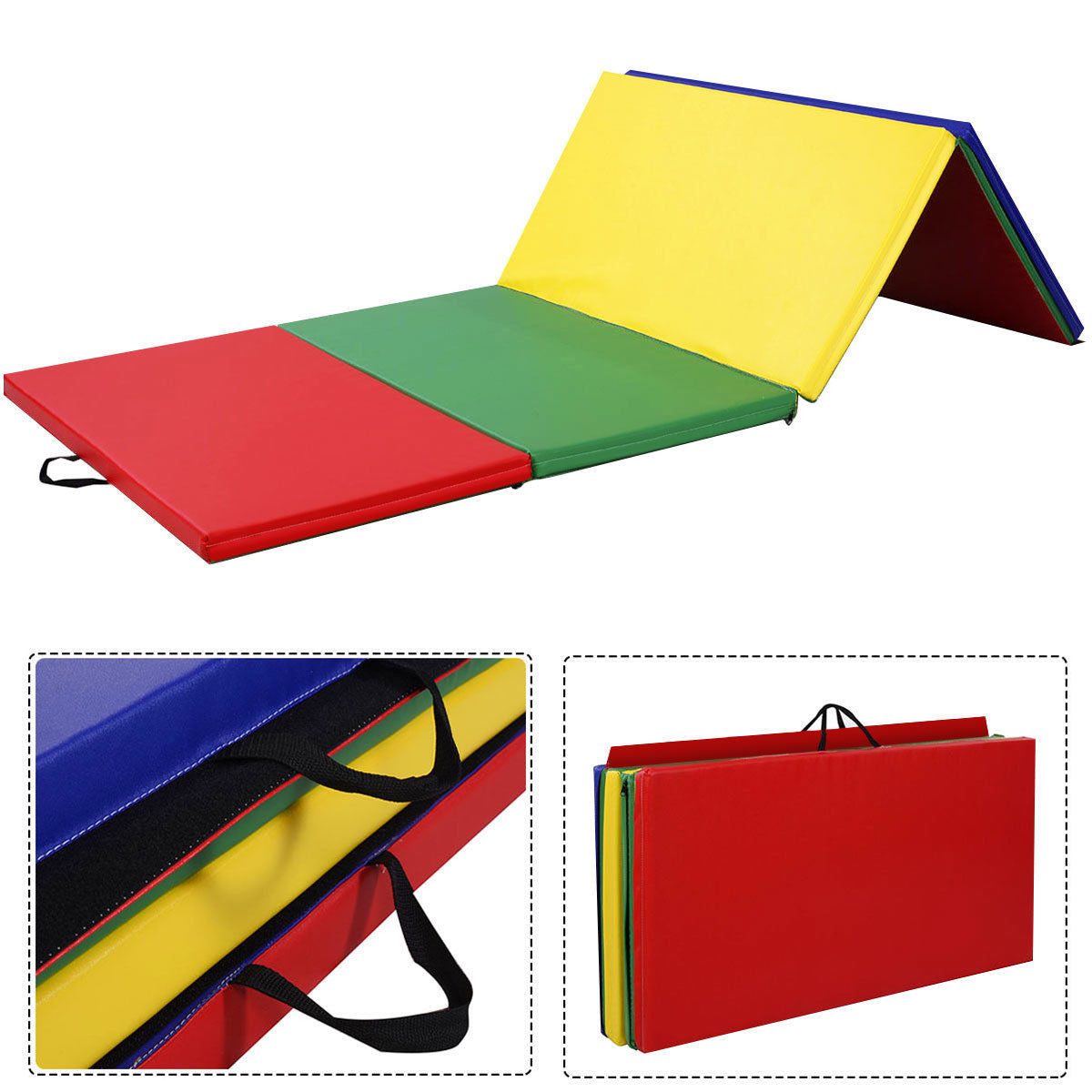 Costway 4'x8'x2'' Gymnastics Folding Panel Mat