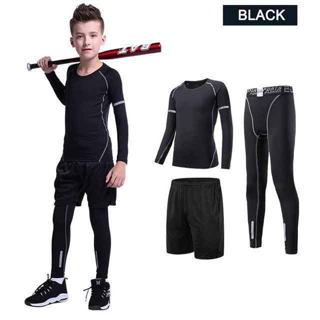 Kids Fitness Compression Set