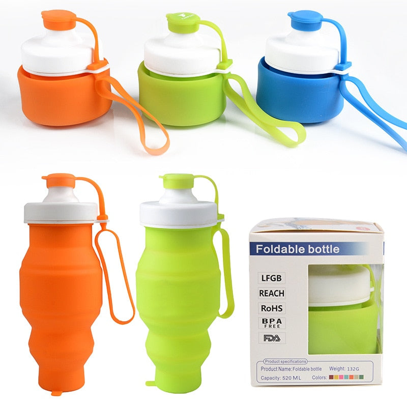 530ml Collapsible Silicone Water Bottle