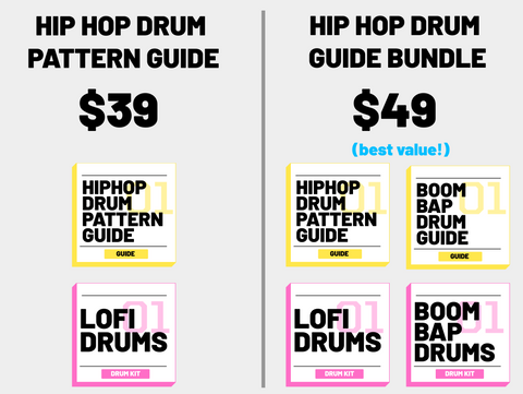 Hip Hop Drum Pattern Guide Bundle Pricing