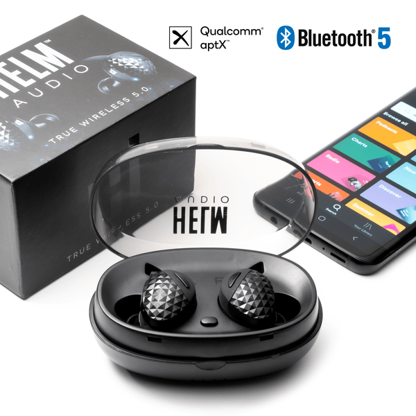 HELM Audio True Wireless Earbuds HELM True Wireless 5.0 Headphones HELM True Wireless 5.0 Headphones with Bluetooth 5.0 & Qualcomm® aptX™ Wireless Headphones Wireless Earbuds Audiophile