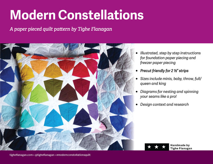 Modern Constellations Quilt Pattern Digital PDF Download