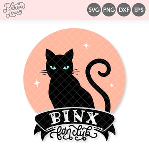 Binx Fan Club Hocus Pocus SVG Cut File