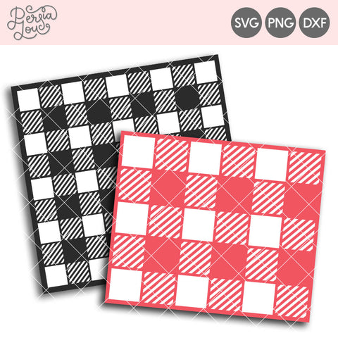 Buffalo Plaid Stencil Cut File